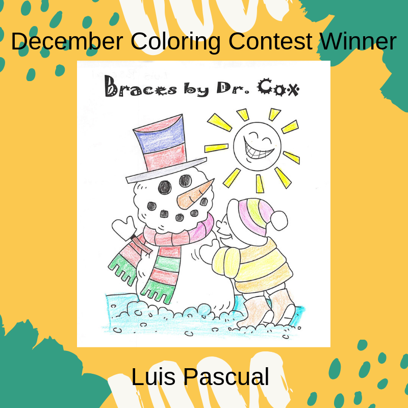 December coloring contest winner