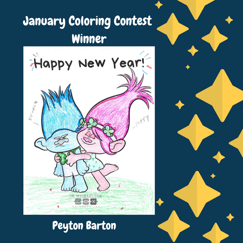 January coloring contest winner